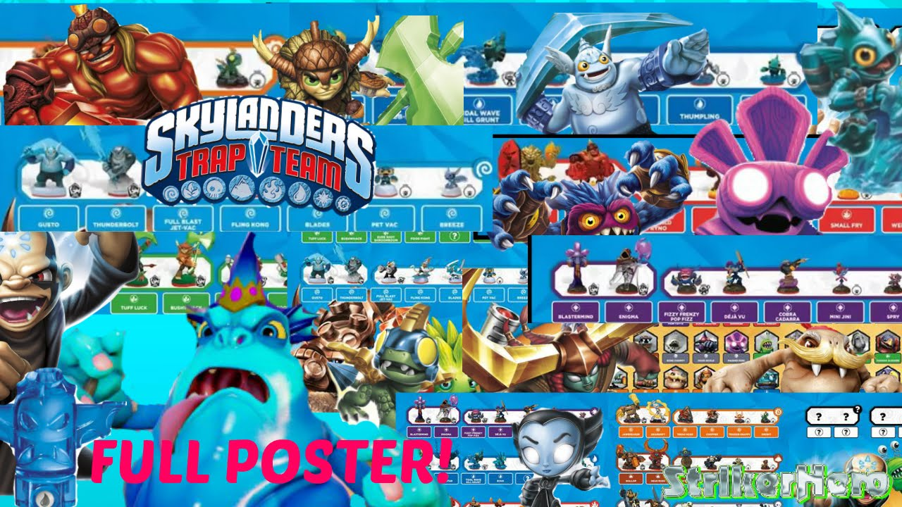 Skylanders Trap Team: FULL Poster Revealed All Characters ...