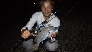 Рыбалка в Абхазии. Скорпена, ставрида и горбыль. Abkhazia. Shore fishing.