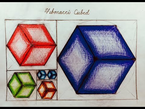 FIBONACCI CUBES: How to Draw the Fibonacci Sequence as Cubes with Phi Proportions (Sacred Geometry