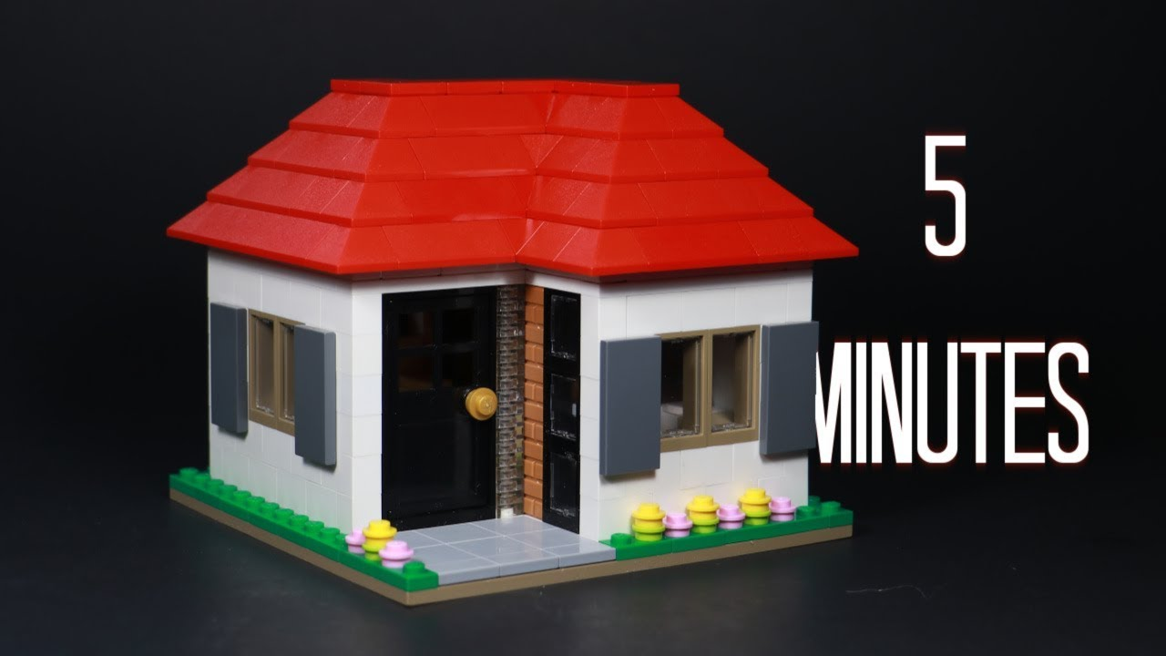 Make A Basic Lego House In 5 Minutes Youtube