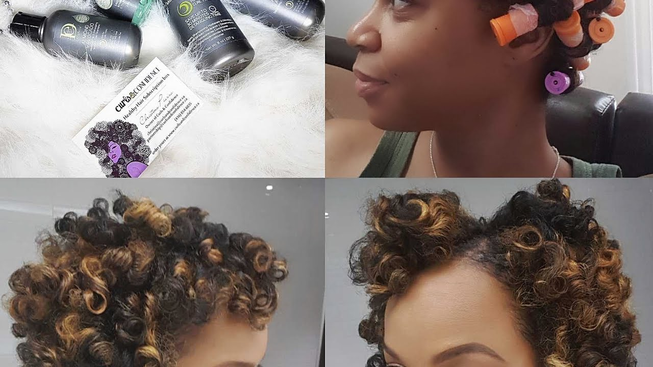 Perm Rod Set With Design Essentials Almond And Avocado Line Youtube