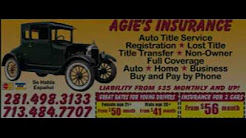 Houston Auto Home & Business Insurance - Agie's Insurance