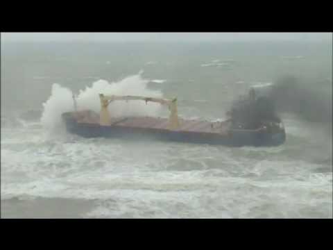 Captain Battles To Save Cargo Ship near Istanbul, Turkey
