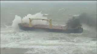Captain Battles To Save Cargo Ship near Istanbul, Turkey