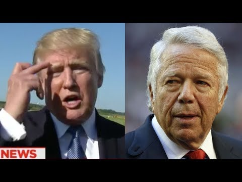 Donald Trump FLIPS OFF Patriots Owner Robert Kraft on National Television