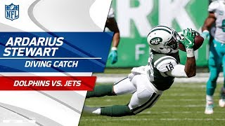 Rookie ArDarius Stewart's Great Diving Grab Sets Up Scoring Drive! | Dolphins vs. Jets | NFL Wk 3