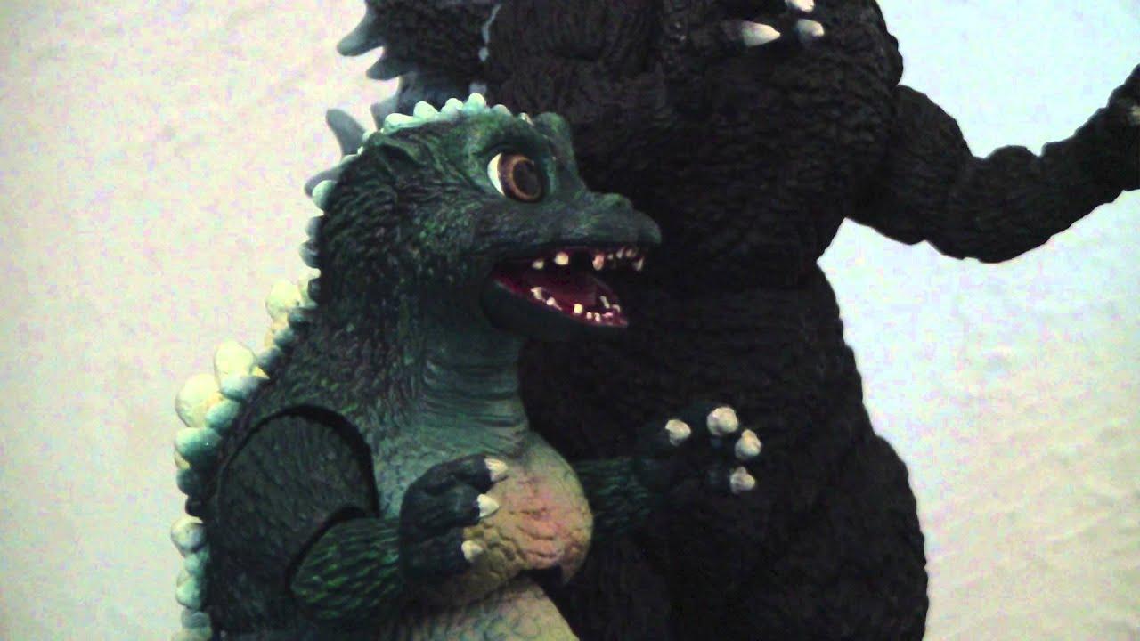 Godzilla Amp Little Godzilla Stop Motion Youtube