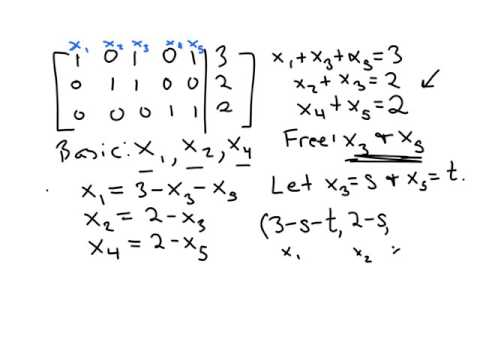 Writing the solution set of a dependent system in parametric form