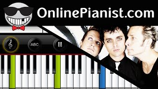 How to play 21 Guns (Twenty One Guns) by Green Day - Piano Tutorial