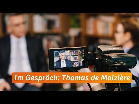 Im Gespräch: Bundesinnenminister Thomas de Maizière