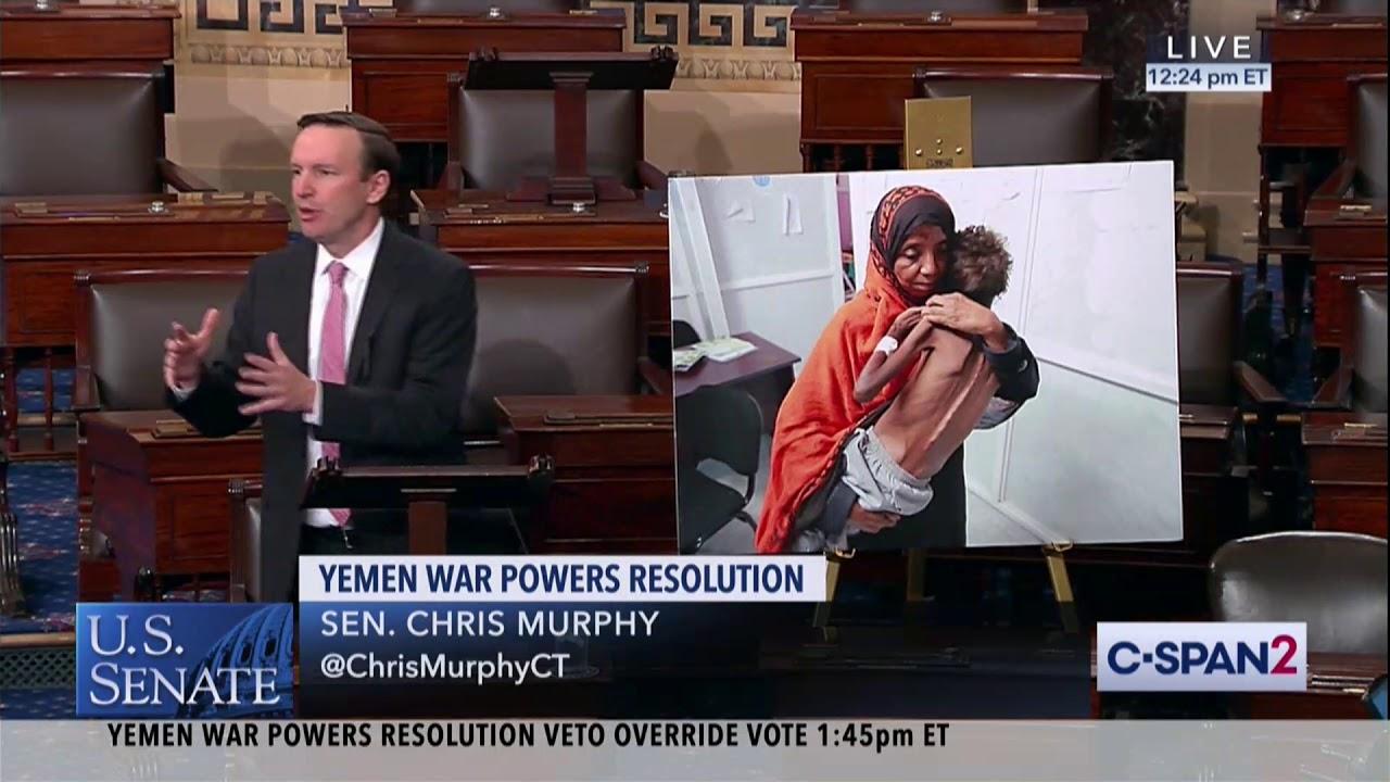 Just a reminder > Murphy Delivers Floor Speech Ahead of Yemen Veto Override Vote