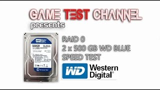 RAID 0 - 2 x 500 GB WD BLUE HDD - SPEED TEST