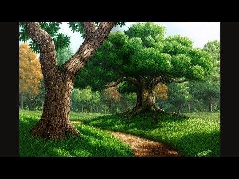Pintura a Óleo - Caminho com Árvores - speed art