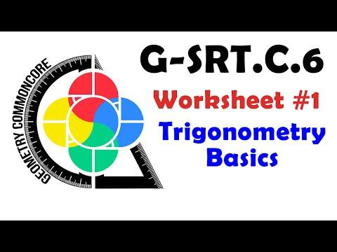 G-SRT.C.6 Worksheets #1/2 - Trigonometry Basics (Theory ...
