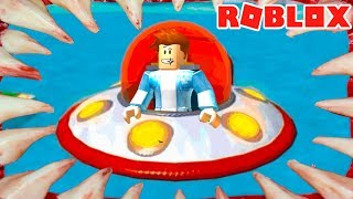 ESCAPE FROM the island in ROBLOKSE! Kid flies to the flying saucer in ROBLOX #КИД