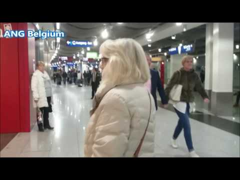 Dusseldorf Airport Germany @ Arrival in the evening on 26 April 2017