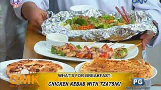 Chicken Kebab W/ Tzatsiki And Hotplate Noodles W/ Meatballs