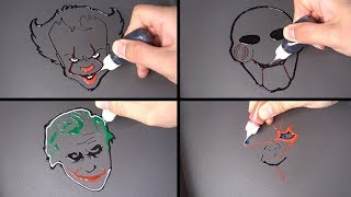 Horror Pancake art - IT, Chucky, Joker, Saw