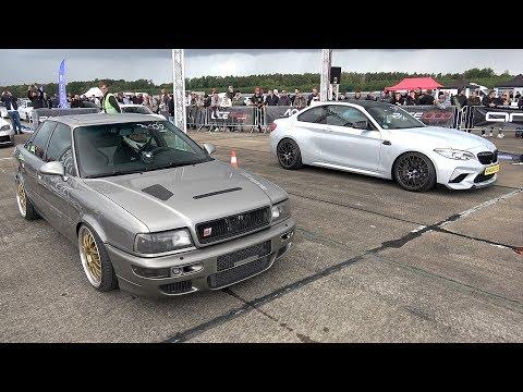 Audi 90 S2 Quattro (700HP) Vs BMW M2 Competition (560HP) 1/2 Mile DRAG RACE