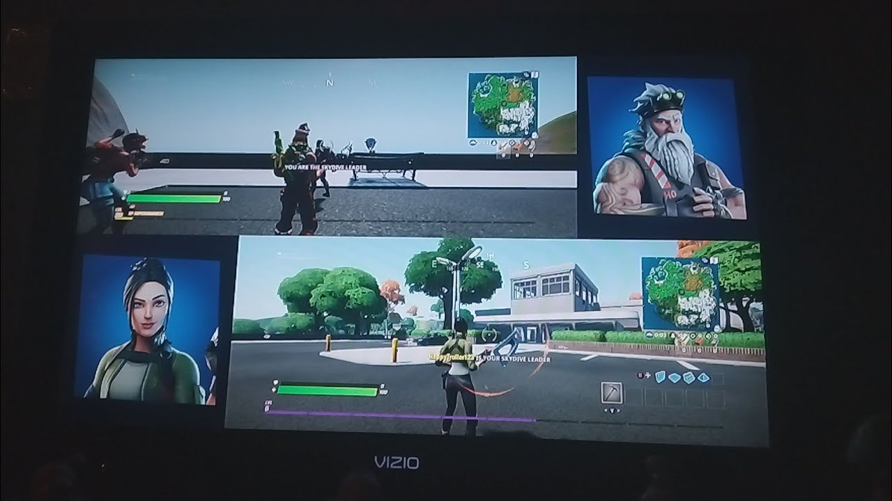 How to do split screen on Fortnite for Xbox One - YouTube