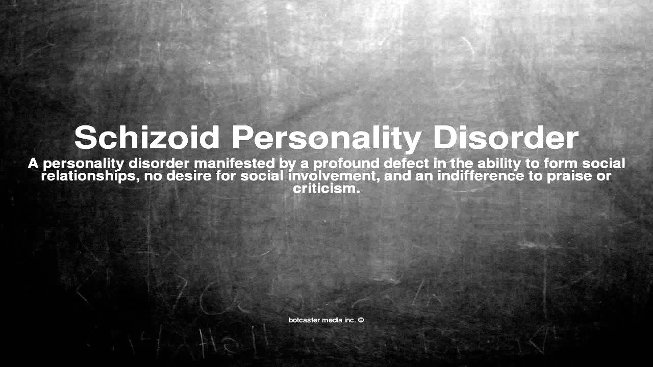 schizoid personality disorder Schizoid personality disorder manifests itself as a chronic lack of emotion, lack of interest in relationships with others and a lack of motivation or ambition.