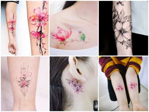 50+ Inspirational Cherry Blossom Flowers Tattoo Designs Ideas