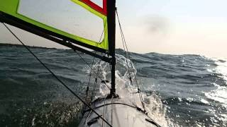 Windy day of kayak sailing with Falcon Sails Thumbnail