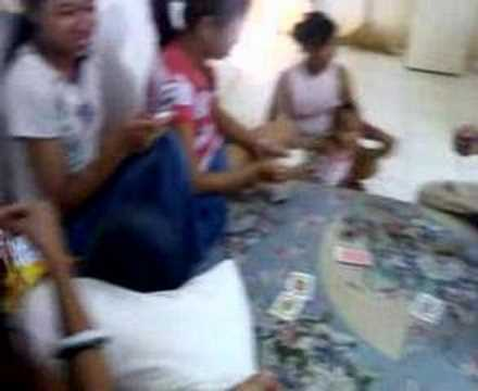 Tourist guides playing cards - Subic Bay