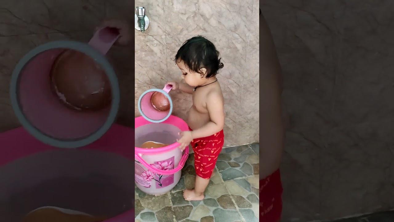 it's Tooktook shower time 🥰🚿🚿 || fun in bath 🛀