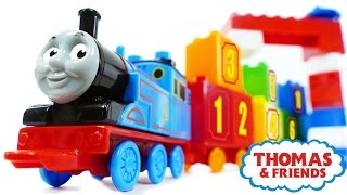 "VIDEO FOR CHILDREN ""Train Thomas & Friends MEGA BLOKS 123 Count with Thomas"" +Toys Trains Percy Toby"