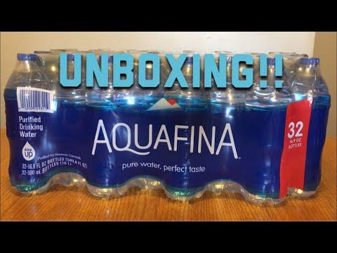 Unboxing Aquafina Water. Case Of 32.