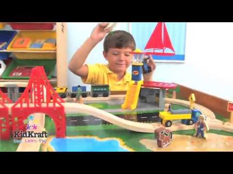 best buy kids train tableKidKraft Ride Around Train Set and Table  sc 1 st  YouTube & best buy kids train table:KidKraft Ride Around Train Set and Table ...