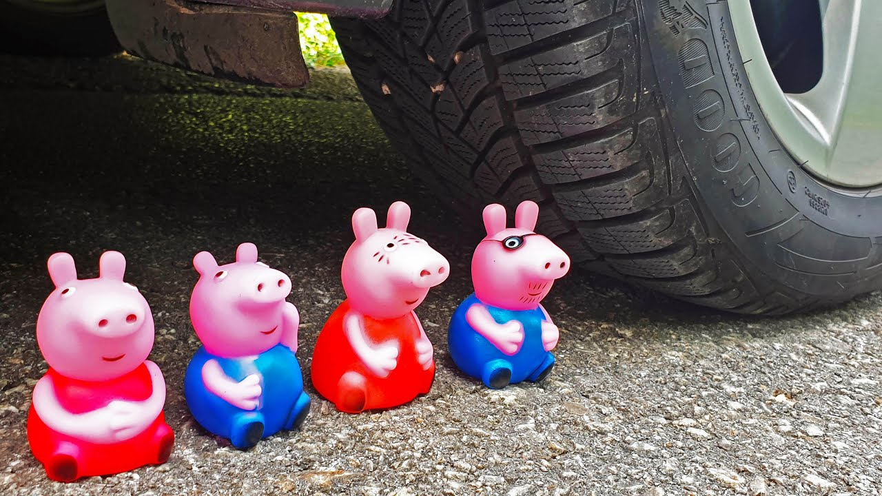 Download Crushing Crunchy & Soft Things by Car! EXPERIMENT CAR VS PEPPA PIG FAMILY