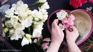 How To Arrange Flowers In The Heart Shaped Box