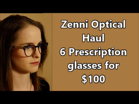 c4d200f087 zenni Unboxing haul 6 glasses for  100 review - YouTube