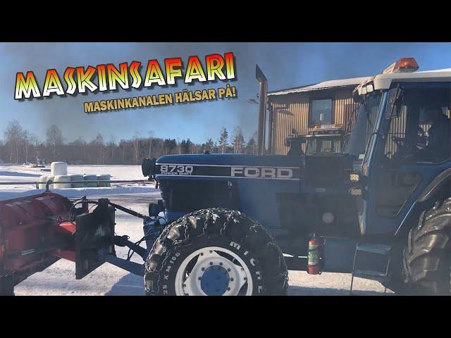 Snöröjning med trimmade traktorer hos J.Karlsson Entreprenad