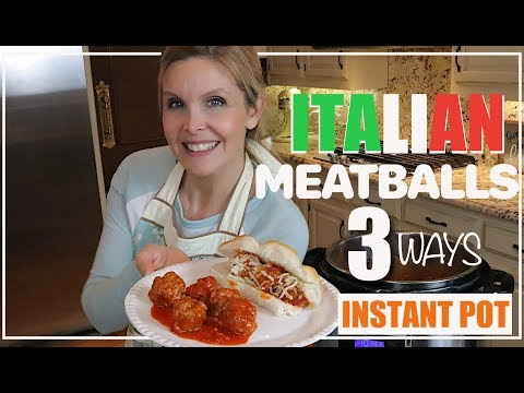 Italian Meatballs Instant Pot Recipe