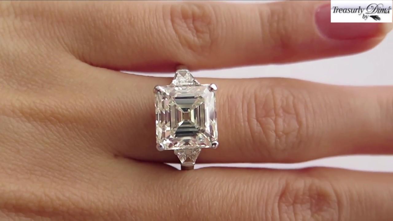 Stone Diamond Ring Emerald Cut