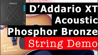 D'Addario XT Phosphor Bronze Acoustic Guitar Strings Demo