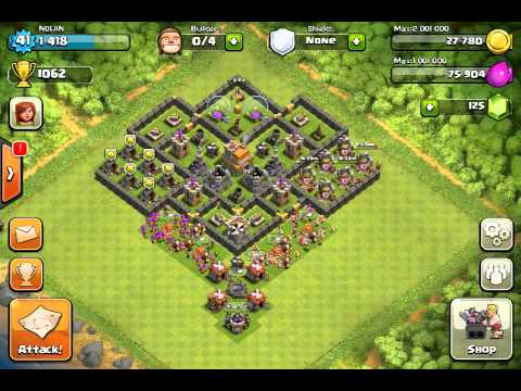 Clash Of Clans Great Level 7 Town Hall Defense Strategy 3 Youtube