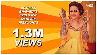 ACTRESS BHAVANA'S MEHNDI TEASER   OFFICIAL VIDEO