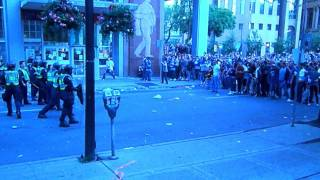 Vancouver Hockey Riot Video - Riots Downtown After NHL game 7 loss. 2011