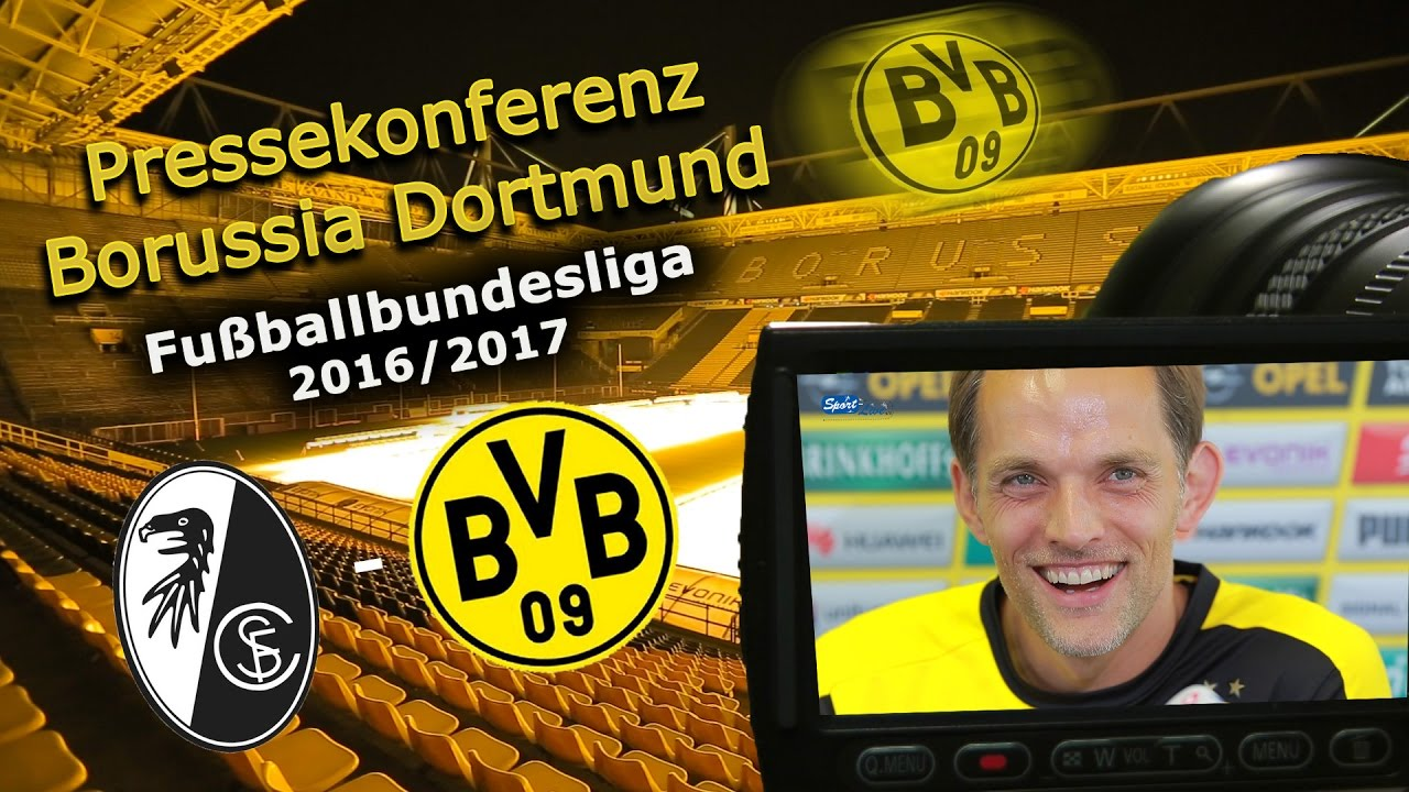 SC Freiburg - Borussia Dortmund: Pk mit Thomas Tuchel