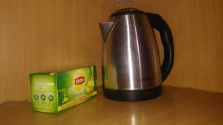 Unboxing of Electric kettle with Lipton Green Tea