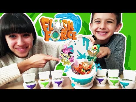 I FLUSHIES: Mostriciattoli che risalgono dal water - FLUSH FORCE - By Tina & Pippo Review