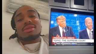 "Quavo Reacts To The 2020 Presidential Debate ""They Hittin! Ali Vs Foreman"""