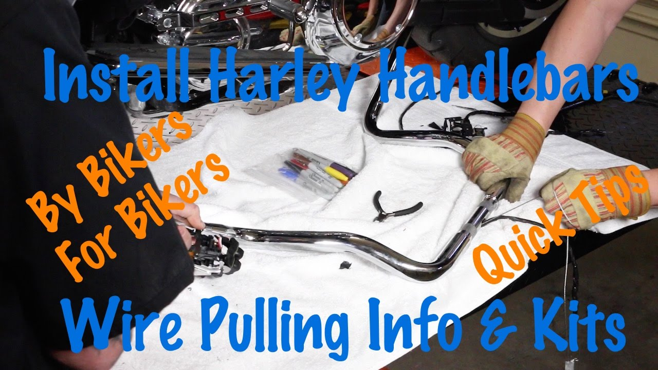 small resolution of pull wires through harley or motorcycle handlebars kits tips tricks motorcycle biker podcast youtube