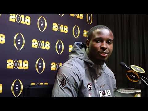 Sony Michel National Championship Media Day Interview, 2018-Jan-06