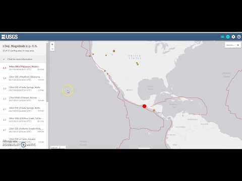 8.0 Earthquake, Breaking, Southern Mexico/Guatemala Coast