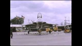 F-105 Fighter Jets in Vietnam 1967 Raw Archival Stock Footage Scene 16 PublicDomainFootage.com